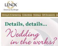 Lenox wedding email