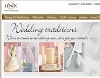 Lenox.com home page - wedding
