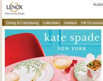 kate spade landing page on Lenox.com