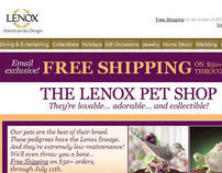 Lenox.com free shipping email