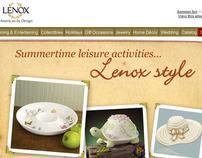 Lenox.com summer email