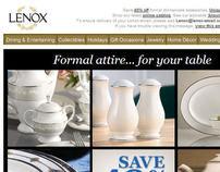 Lenox.com formal china email copy
