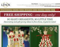 Lenox.com ornaments email
