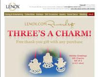 Lenox.com loyalty program email