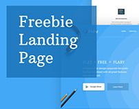Freebie Flat Landing Page