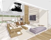 Estudos para projetos de arquitetura de interiores