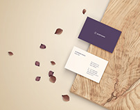 Free Business Card Mockup - Front and Back