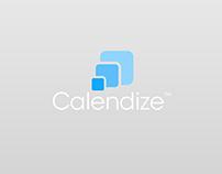 Calendize logo, app & landingpage
