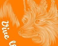 Vive le Fox T-Shirt Design