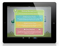 iPad Backup Management Apps Ui Design