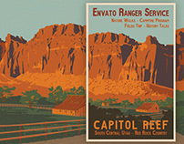 Capitol Reef Travel Poster
