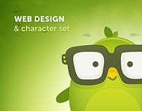 EarlyBirds - web design and character set