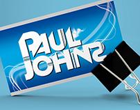 Business Card Design for DJ & Presenter Paul Johns
