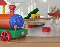 Train toy 3D Still