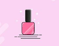 Makeup essential illustration