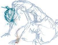 Estudos - desenhos (modelo-vivo)