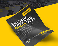 Design and layout of marketing collateral for Viva Gym