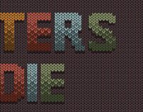 Knitted typography