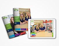 Art direction voor online en fysieke magazines – SBA