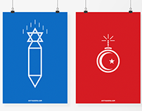 "Print: ""Gaza"" Political poster series."