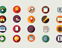 20 colorful icon set