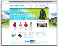 HUSKY webdesign for new e-shop