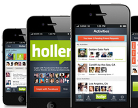 Holler - iPhone / Web App