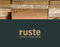 RUSTE WOODWORKING / Branding Design