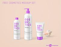 Free Cosmetics Mockup Set