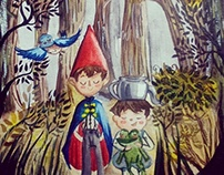 Over The Garden Wall - watercolor