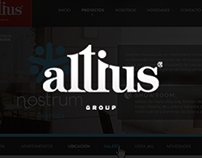 Altius Group web redesign