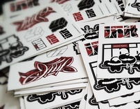 """INIT"" Stickers Collab work w/ Gagica"