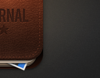Leather Journal Icon for iOS / Android