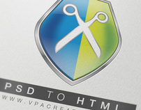 PSD2HTML VPA Logo and Web Design