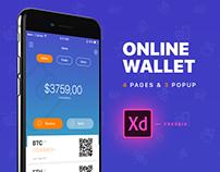 E-Wallet | Adobe XD | FREE