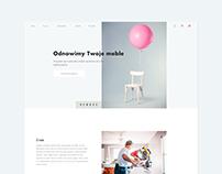 Furniture Restorations Website Concept | Renove
