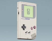 Nintendo Game Boy / 3D model and animation