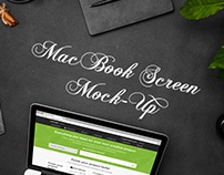 MacBook Screen Responsive Mock-Up
