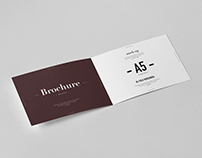 Bi-Fold A5 Horizontal Brochure Mock-up
