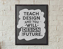 Typography poster - Teach