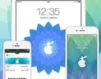 Szifon.com style Apple's 'Spring forward.' wallpapers