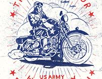Harley Davidson Liberator WW2 US ARMY Print