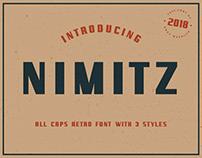 NIMITZ - FREE ALL CAPS RETRO FONT