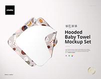 Hooded Baby Towel Mockup Set