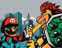 Ultra Mario vs Bowsilla