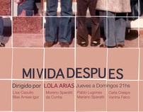 "Afiche. Obra de teatro. ""Mi vida después"""