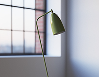 FREE 3D MODEL OF GRASSHOPPER FLOOR LAMP