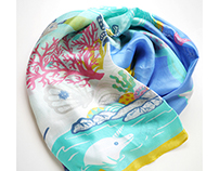 Illustrative Silk Scarf