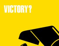 «Victory?» poster (Fukuda homage)