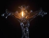 "Cross Candle ""Feli Dei"""